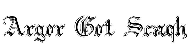 Argor Got Scaqh  Free Fonts Download