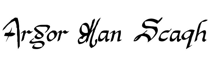 Argor Man Scaqh  font caratteri gratis