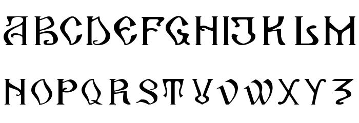 ArhaicRegular Font LOWERCASE