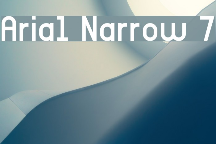 Arial Narrow 7 Fonte examples