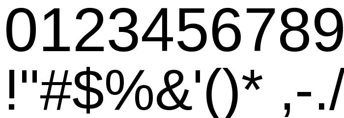 Arimo Шрифта ДРУГИЕ символов