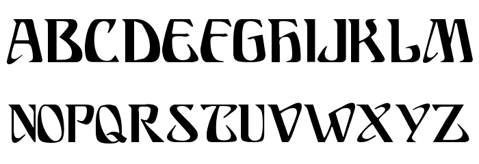 Ariosto Regular Font UPPERCASE
