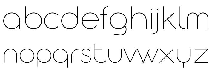 Aristotelica Display Trial Thin Schriftart Kleinbuchstaben