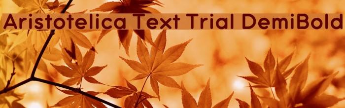Aristotelica Text Trial DemiBold Schriftart examples