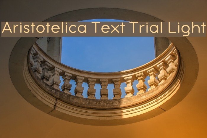 Aristotelica Text Trial Light Schriftart examples