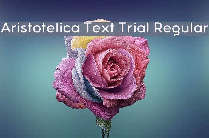Aristotelica Text Trial Regular Schriftart examples