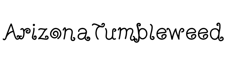 ArizonaTumbleweed  Free Fonts Download