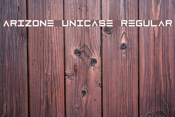 Arizone Unicase Regular Font examples