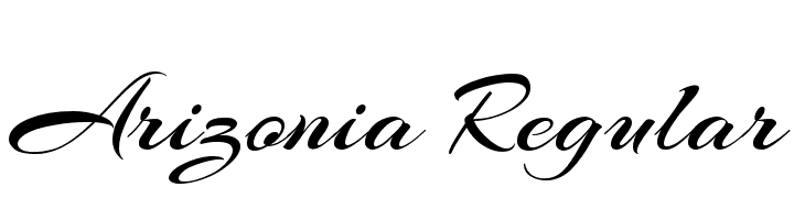 Arizonia Regular Font - free fonts download