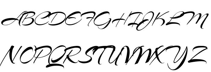 Arizonia Regular Font UPPERCASE