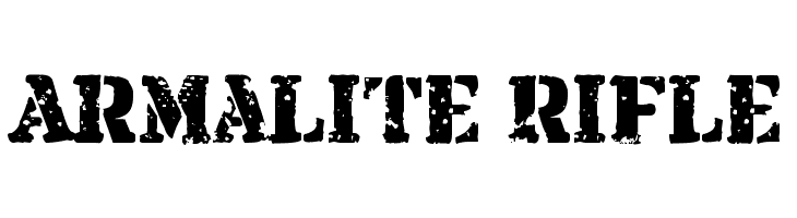 Armalite Rifle  Скачать бесплатные шрифты