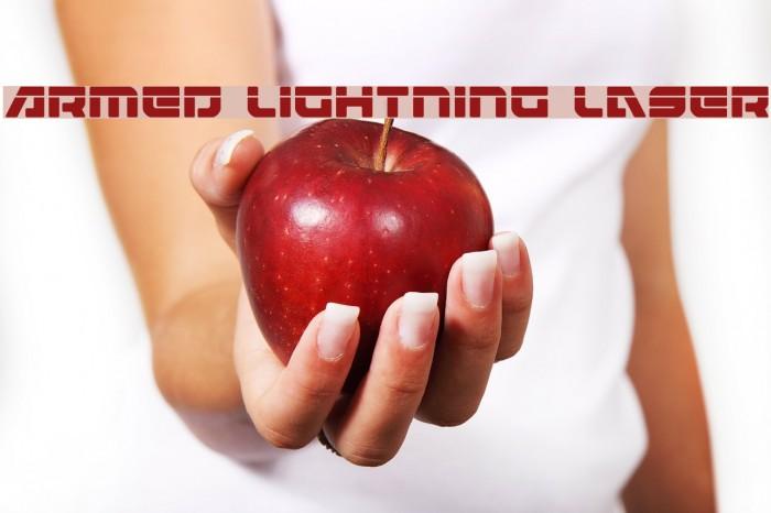 Armed Lightning Laser Schriftart examples