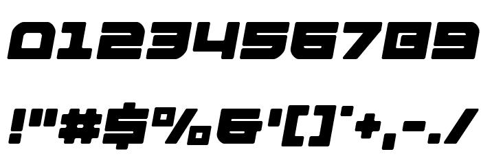 Armed Lightning Semi-Italic Schriftart Anderer Schreiben