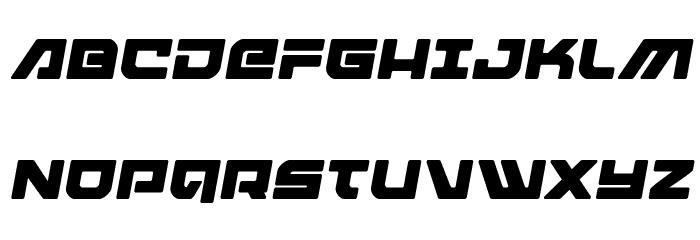 Armed Lightning Semi-Italic Schriftart Groß