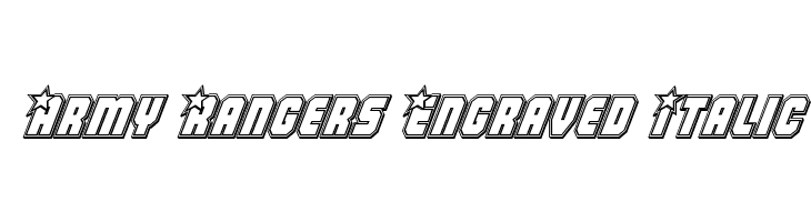 Army Rangers Engraved Italic  Free Fonts Download
