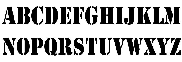 Army Thin Font Litere mari