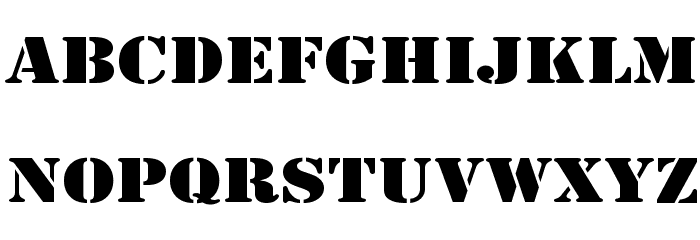 Army Wide Font UPPERCASE