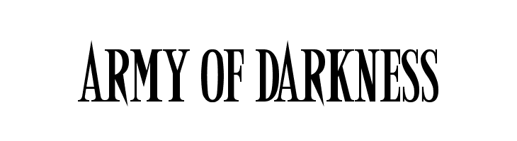 Army of Darkness  Free Fonts Download