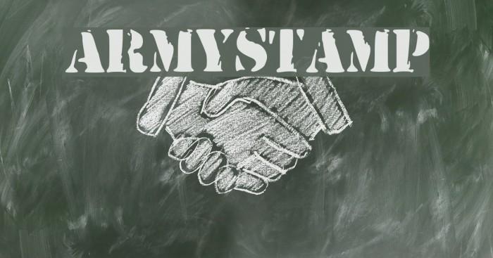 ArmyStamp Caratteri examples