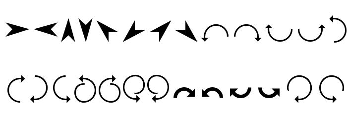 Arrows Шрифта строчной