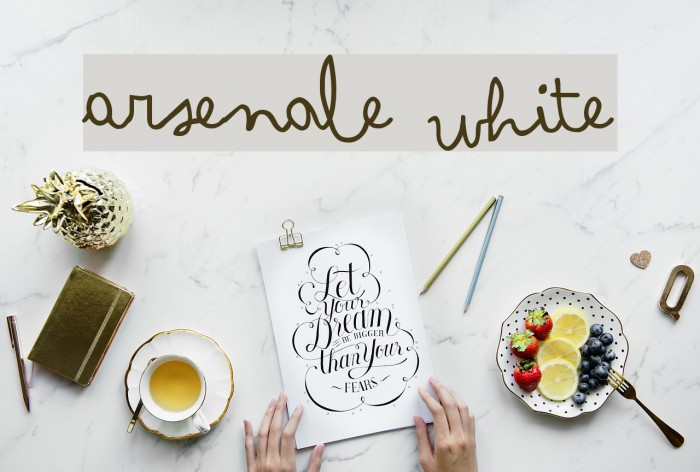 Arsenale White Font examples