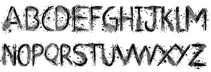 Art Class Font UPPERCASE