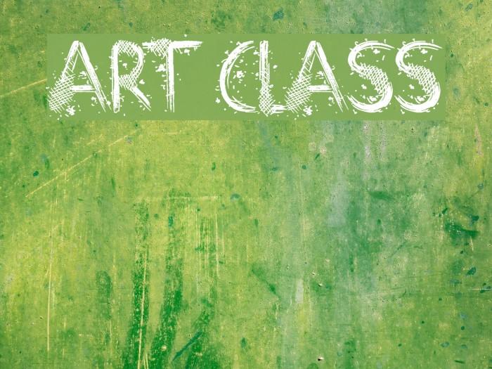 Art Class Font examples