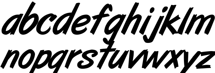 ArtBrush Medium Fonte MINÚSCULAS