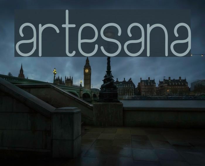 Artesana Шрифта examples