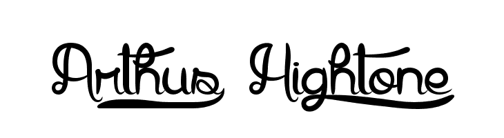 Arthus1 Hig6htone  font caratteri gratis
