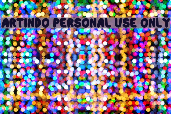 Artindo Personal Use Only Шрифта examples