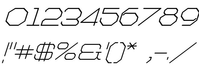 Artlookin Italic Шрифта ДРУГИЕ символов