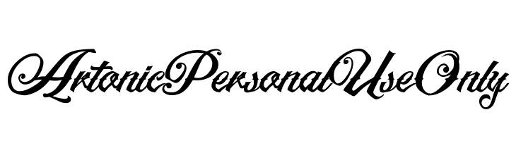 ArtonicPersonalUseOnly  Free Fonts Download