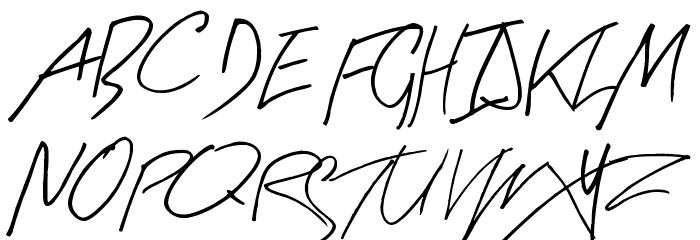Arty Signature Font UPPERCASE