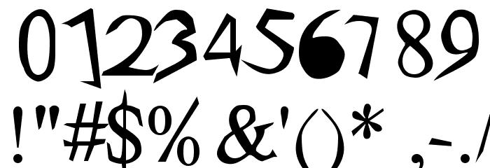 arachnid Шрифта ДРУГИЕ символов
