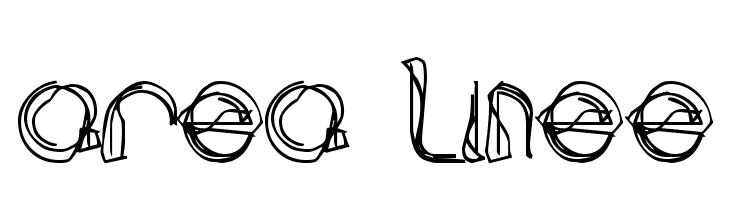 area LINEe Font