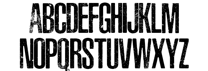ASPHALTIC SCRATCH ROUNDED PERSONAL USE Font UPPERCASE