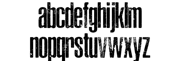 ASPHALTIC SCRATCH ROUNDED PERSONAL USE Font LOWERCASE