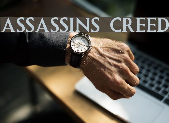 ASSASSINS CREED Font examples