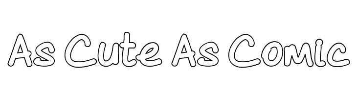 As Cute As Comic  font caratteri gratis