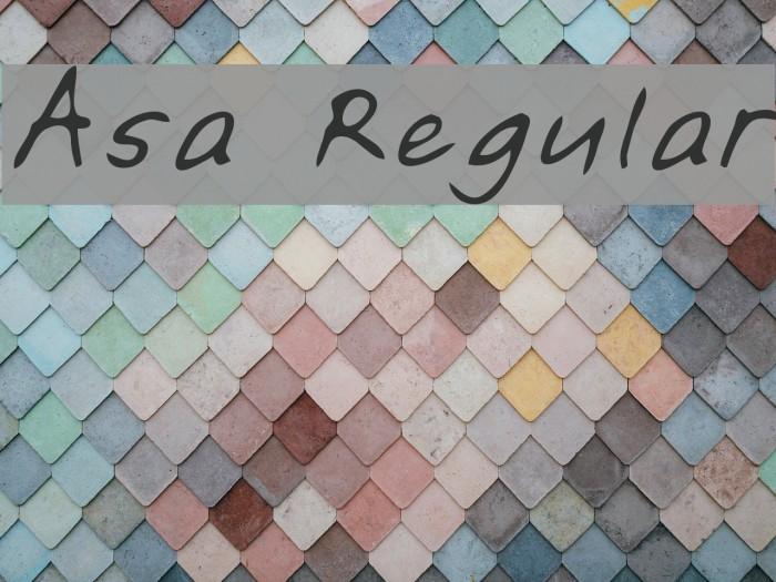 Asa Regular Fonte examples