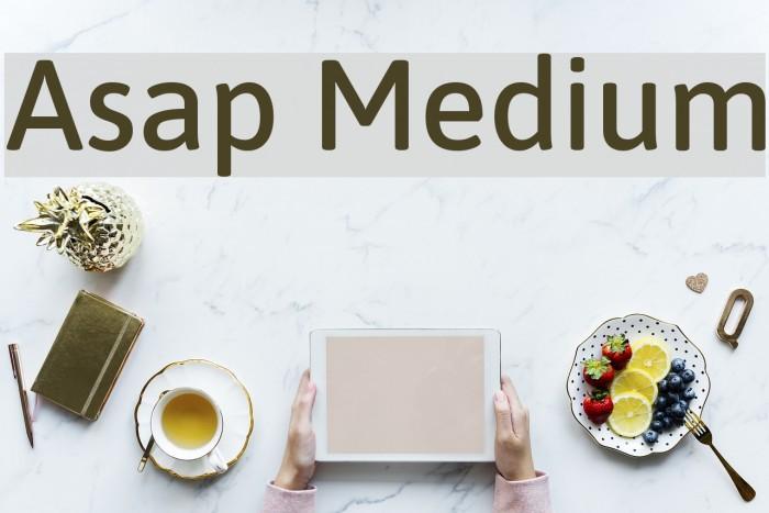 Asap Medium Fonte examples