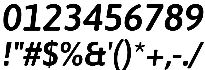 Asap SemiBold Italic Font Alte caractere