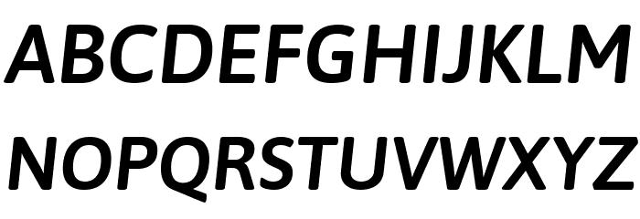 Asap SemiBold Italic Font Litere mari