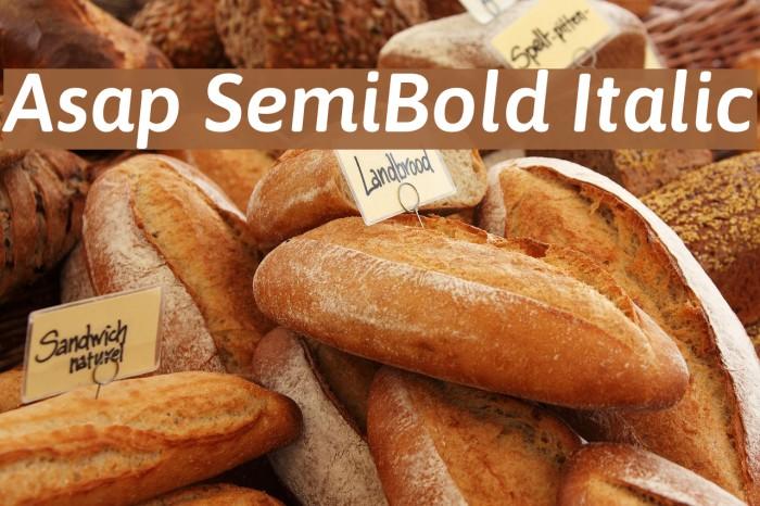 Asap SemiBold Italic Font examples