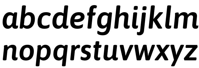 Asap SemiBold Italic Font Litere mici