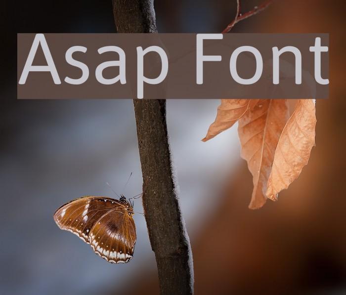 Asap Font examples