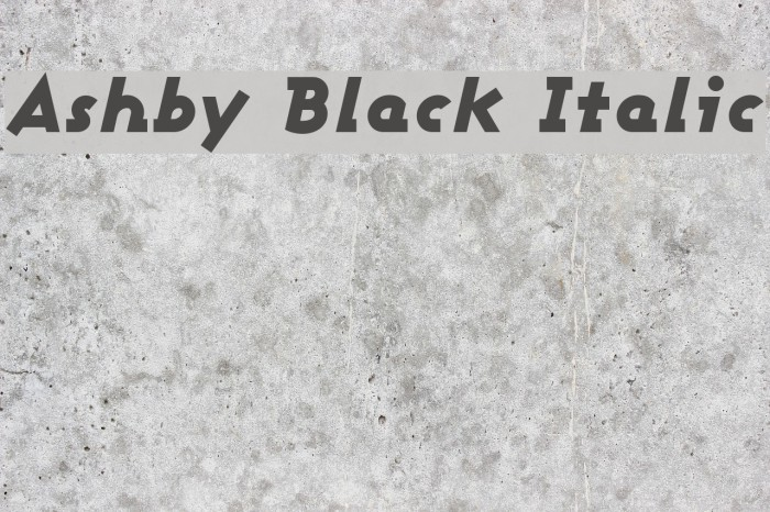 Ashby Black Italic Font examples
