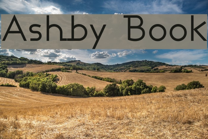 Ashby Book Fonte examples