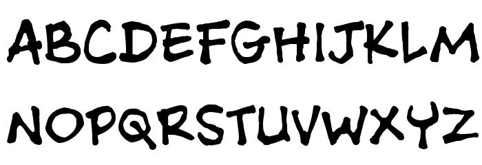 Ashcan BB Font UPPERCASE